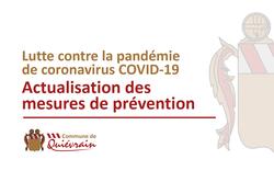 Actualisation des mesures de prévention