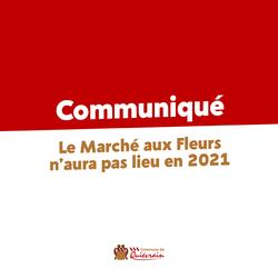 Annulation du Marché aux Fleurs 2021