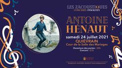 Antoine Hénaut, en concert ce samedi 24 juillet !