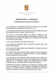 Arrêtés de Police du Gouverneur de la Province de Hainaut