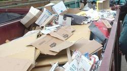 Cartons et PMC non ramassés