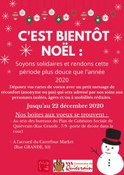 C'est bientôt Noël, soyons solidaires !