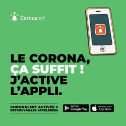 L'application Coronalert, un outil supplémentaire