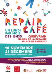 Le Repair Café de décembre, toujours sur rendez-vous
