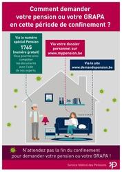 Le Service Pensions accessible en ligne et par téléphone
