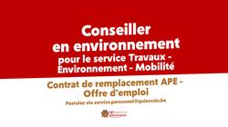 Offre d'emploi - Conseiller en environnement