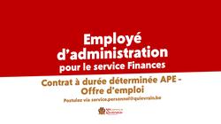 Offre d'emploi - Employé d'administration